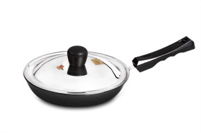 Hard Anodised Fry Pan with Lid – 26 cm