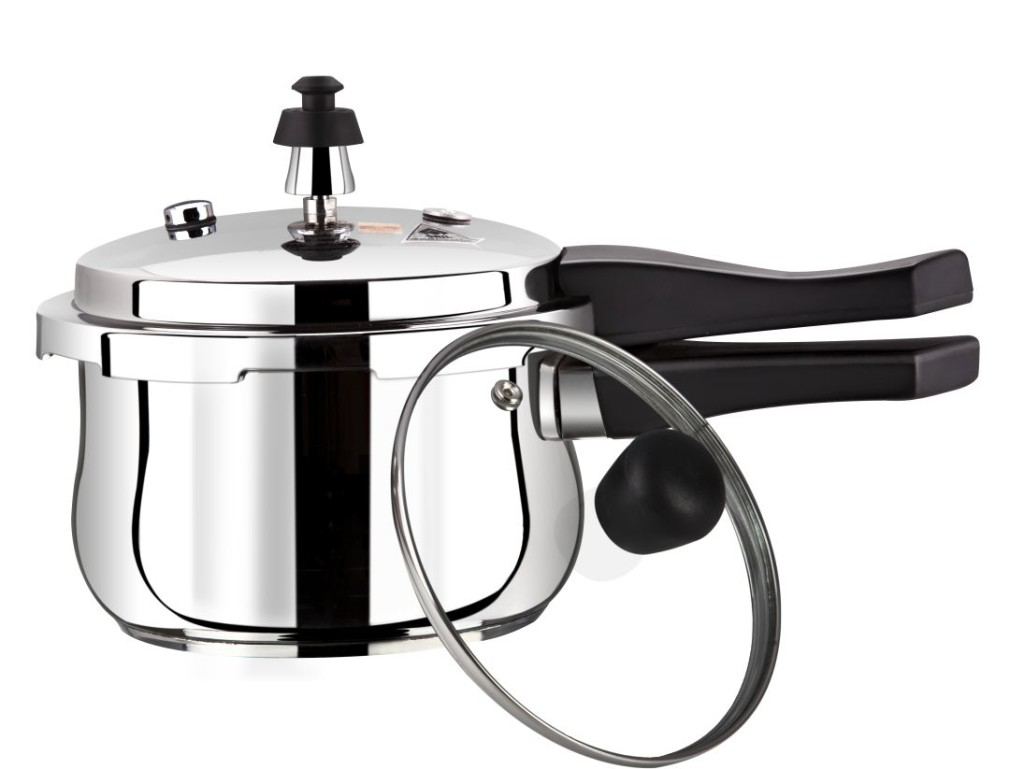 stainless steel encapsulated bottom outer lid pressure cooker 03 ltrs belly pritam. Black Bedroom Furniture Sets. Home Design Ideas